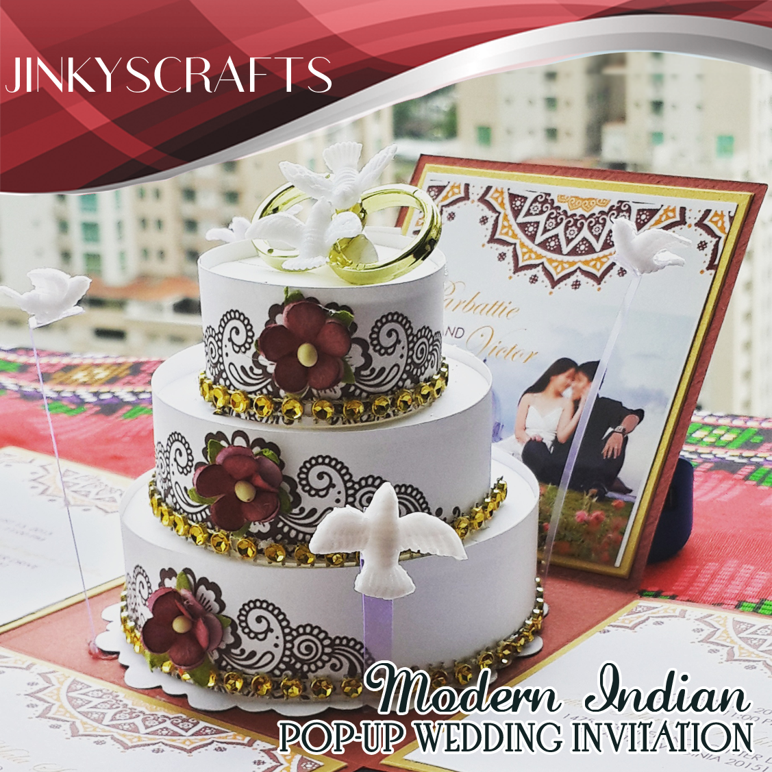 Sooknanan Indian Themed Wedding Invitation