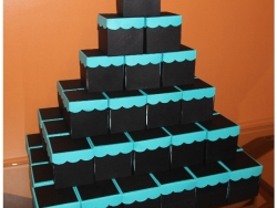 Black & Turquoise Quinceanera Invitation