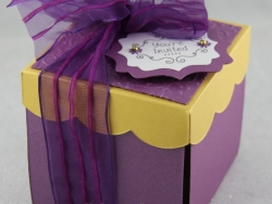 Gold & Purple Wedding Invitation