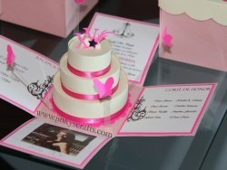 Pink and Creme Quinceanera Invitations