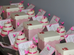 Pink & Creme Custom Invitations