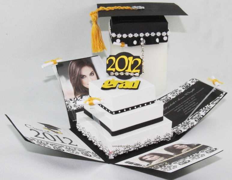 Creative Graduation Pop up Invitation
