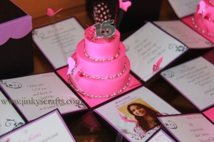 HOT PINK, PURPLE, BLACK, FUCHSIA QUINCEANERA INVITATIONS