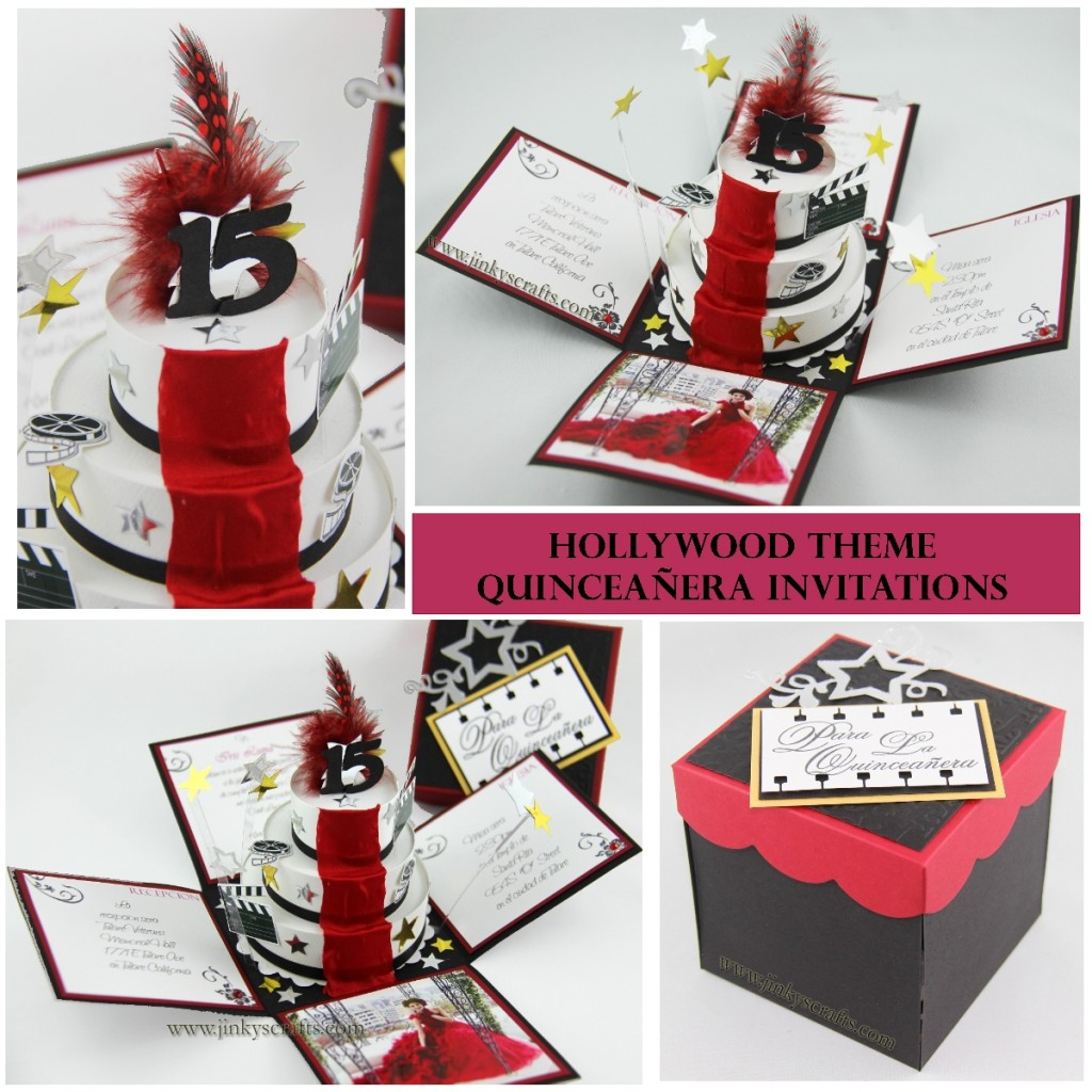 HOLLYWOOD THEME CUSTOM INVITATIONS
