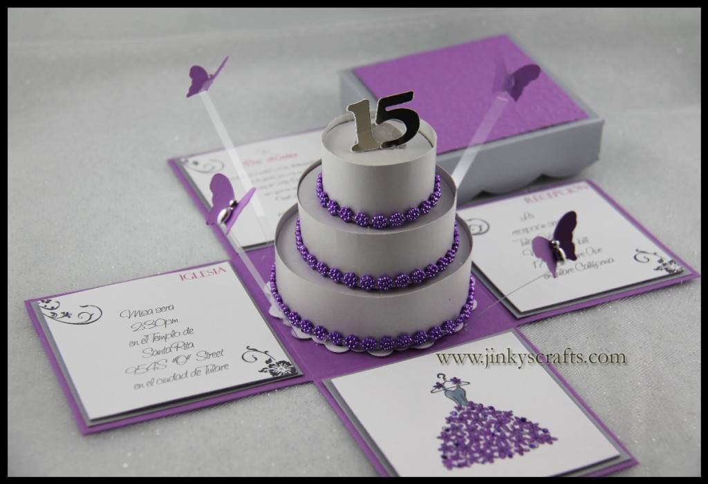 Jinky's Crafts & Designs: Quinceañera Exploding Invitation Box