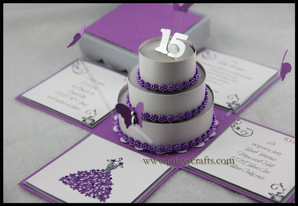 Mis Quince Creative Pop-Up Invitations