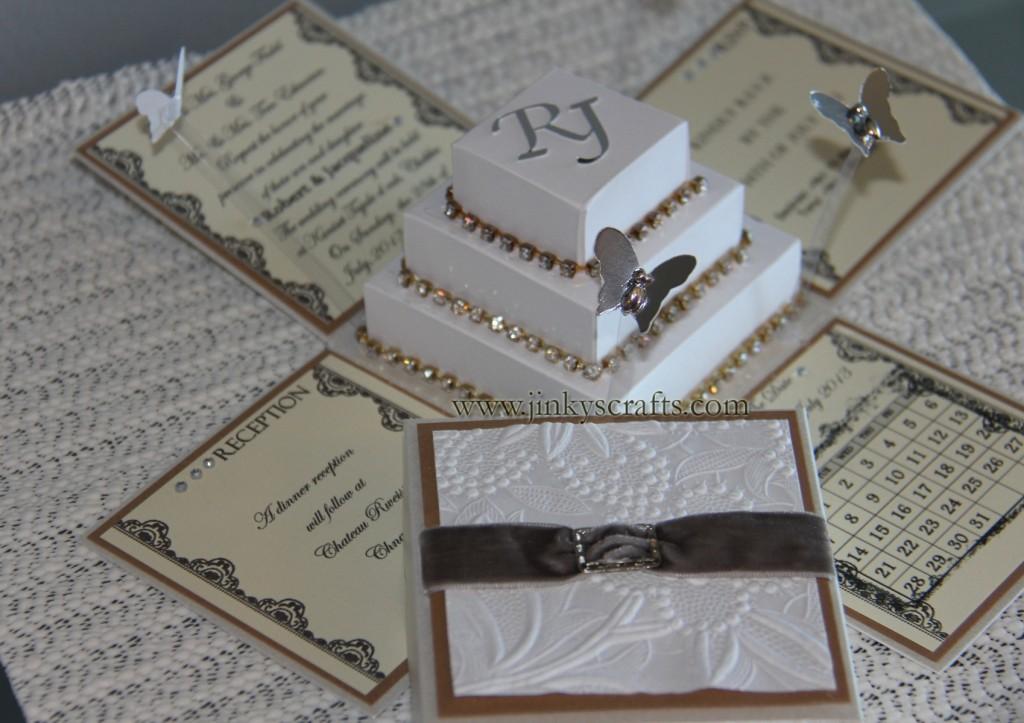 Rhinestone Wedding Invitation Cake Ideas And Designs