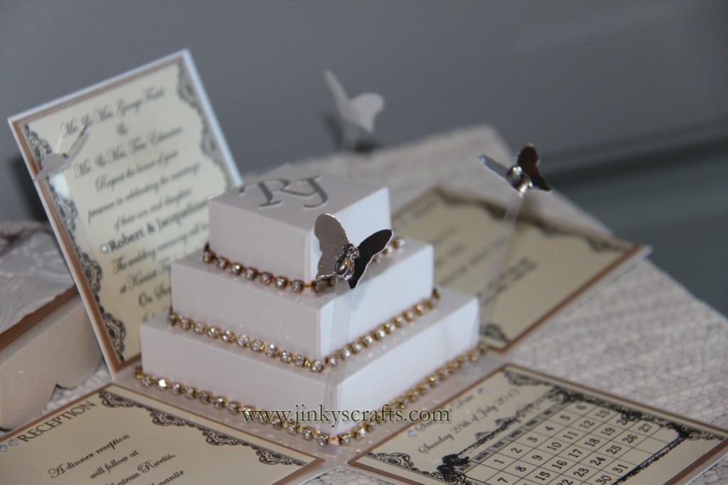 Wedding Invitation In A Box: Lace Wedding Invitation