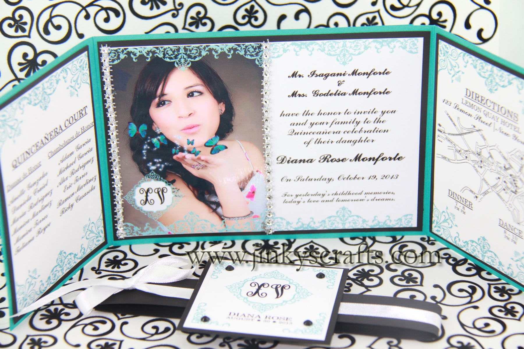 Diy quinceanera invitations gangcraft home jinkys crafts quinceanera invitations stopboris Gallery