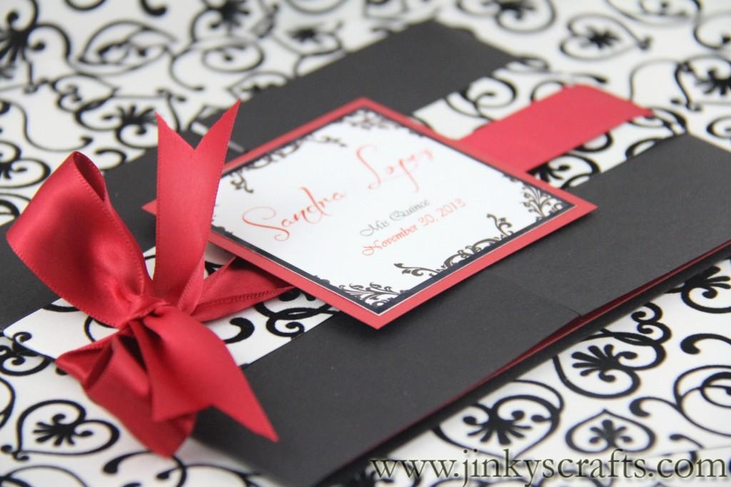 Elegant Hollywood Themed Gatefold Invitations Quincea era – Invitation Cards for Quinceanera