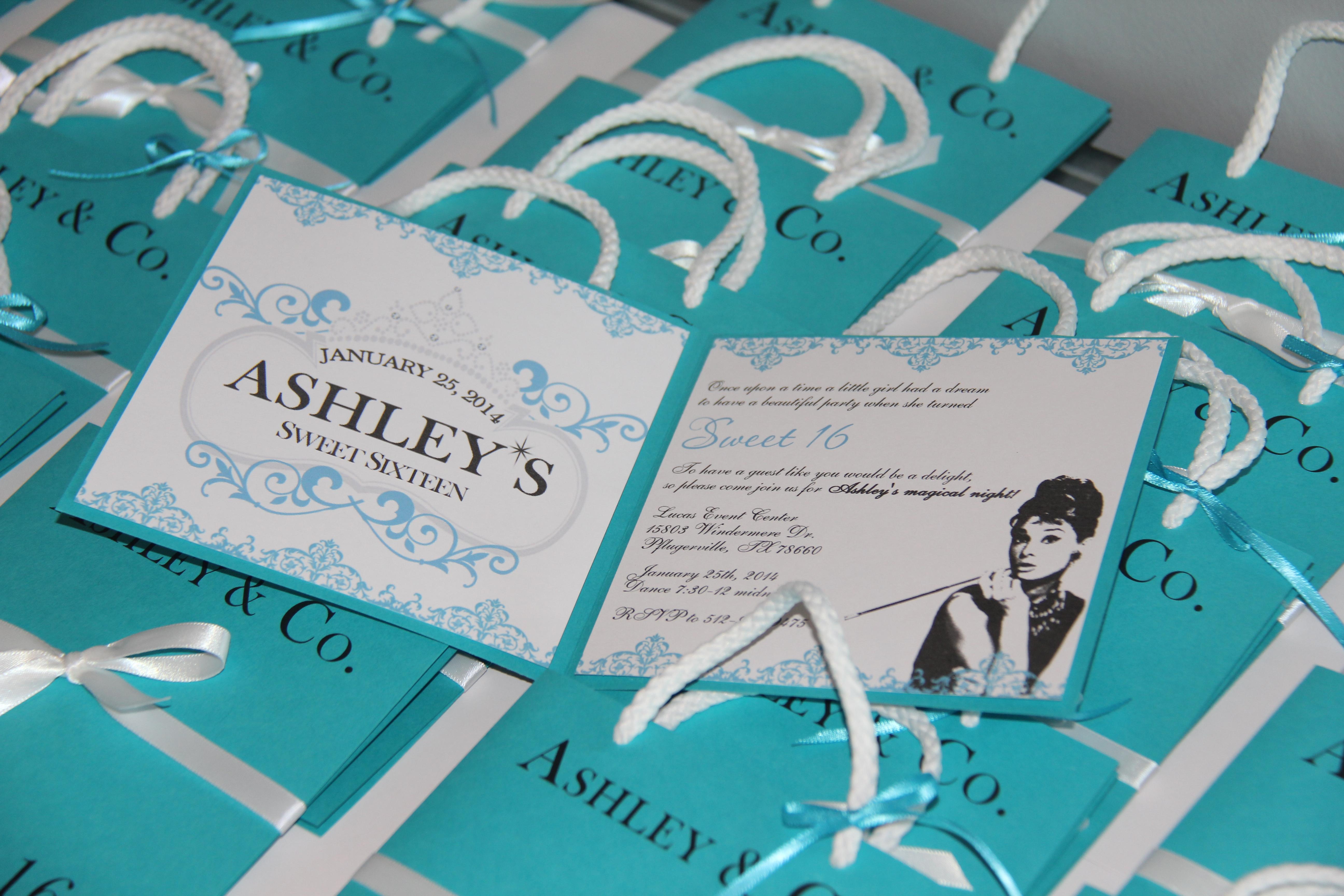Ashley Unique Bag Invitations Jinkys Crafts