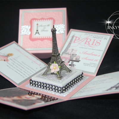 Parisian Party Invitations, Parisian Bridal Shower